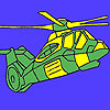 Heavy military helicopter coloring game