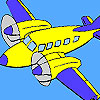 High flying plane coloring game