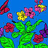 Hungry butterflies coloring game