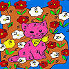 Kitty in the flower island coloring game