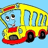 Kids Coloring Bus game