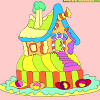 Kids coloring Gingerbread house game