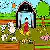 Lambs farm coloring game