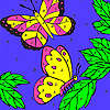 Leaves and butterflies coloring game