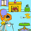 Lisa at home coloring game