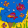 Little aquarium coloring game