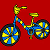 Little street bike coloring game