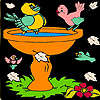 Little birds on the bath coloring game
