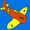 Little island airplane coloring game