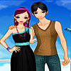 Lovely couple dress up game