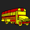 Long school bus coloring game