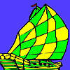 Mini sea ship coloring game