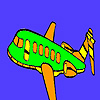 Minor military airplane coloring game