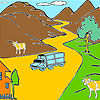 Mountain and cows coloring game