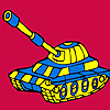 Modern military tank car coloring game