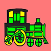 Modern locomotive car coloring game