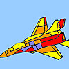 Modern war plane coloring game