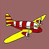 Modern jet coloring game