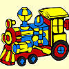 New made locomotive coloring game
