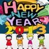 New Year Coloring Page game