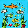 Ocean aquarium coloring game