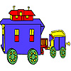 Old village carriage coloring game