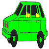 Old green car coloring game