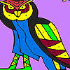 Old night owl coloring game