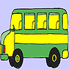 Old fast bus coloring game