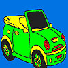 Open sports car coloring game