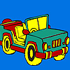 Open top jeep coloring game