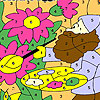 Painter grandfather coloring game