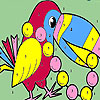 Pearl parrot coloring game