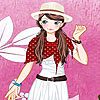 Pink garden girl dress up game