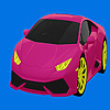Pink hot car coloring game