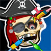 Pirate Skeleton at Dentist game