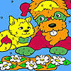 Puppy and kitty coloring game