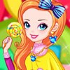 Rainbow Girl with Lollipop game