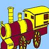 Rattletrap village train coloring game