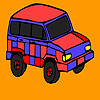 Red mountain jeep coloring game