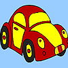 Red little turtle car coloring game