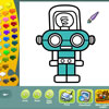 Robots coloring pages game