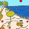 Sandcastles on the beach coloring game