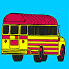 School bus parking coloring game
