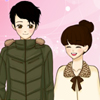 Shoujo Manga valentine couple dress up game