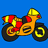 Small colorful motorbike coloring game
