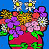Spring house flowers coloring game