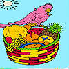 Tropic island and parrot coloring game