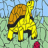 Turtle and ball coloring game