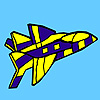 War jet coloring game